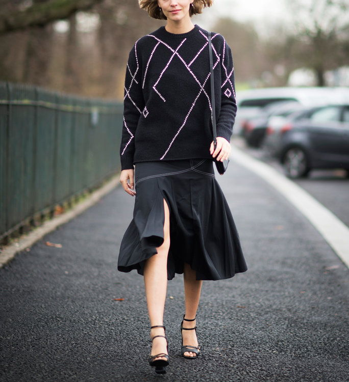 Са a Light Sweater and Strappy Heels