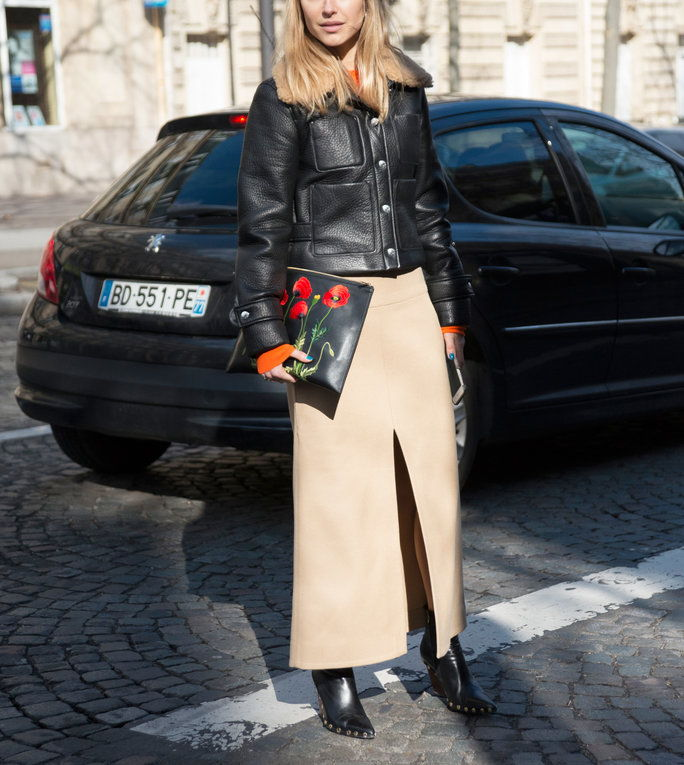 Са a Cropped Boxy Jacket and Heeled Boots