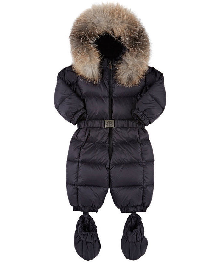 Монцлер Fur-Trimmed Down-Quilted Snowsuit