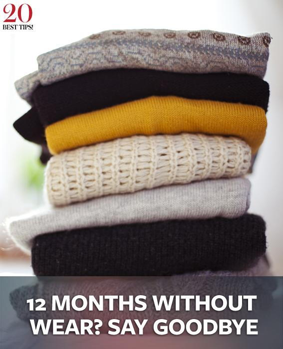 20 Tips Organizing Your Closet - 12 MONTHS WITHOUT WEAR? SAY GOODBYE