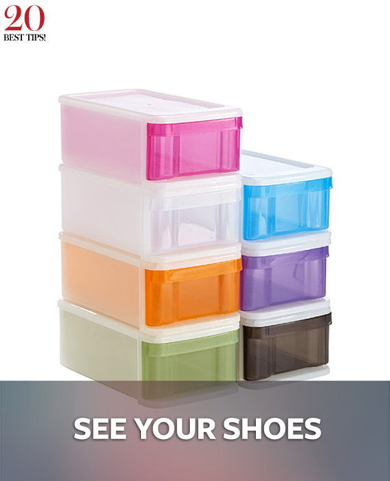 20 Tips Organizing Your Closet - SEE YOUR SHOES