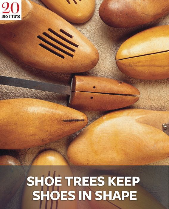 20 Tips Organizing Your Closet - SHOE TREES KEEP SHOES IN SHAPE