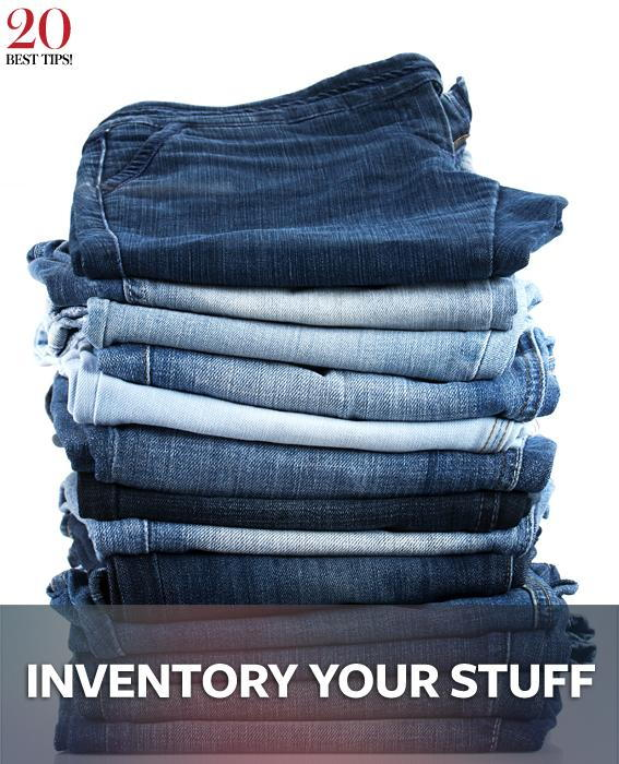 20 Tips Organizing Your Closet - INVENTORY YOUR STUFF