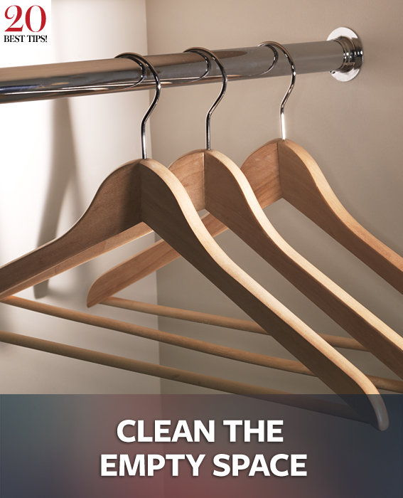 20 Tips Organizing Your Closet - CLEAN THE EMPTY SPACE