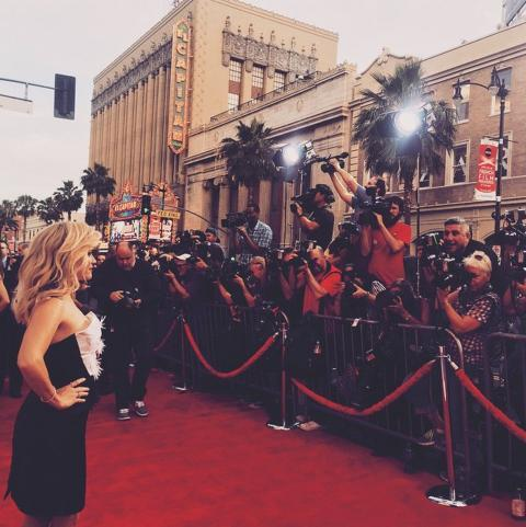 Реесе Witherspoon on the red carpet for the Hot Pursuit Premiere