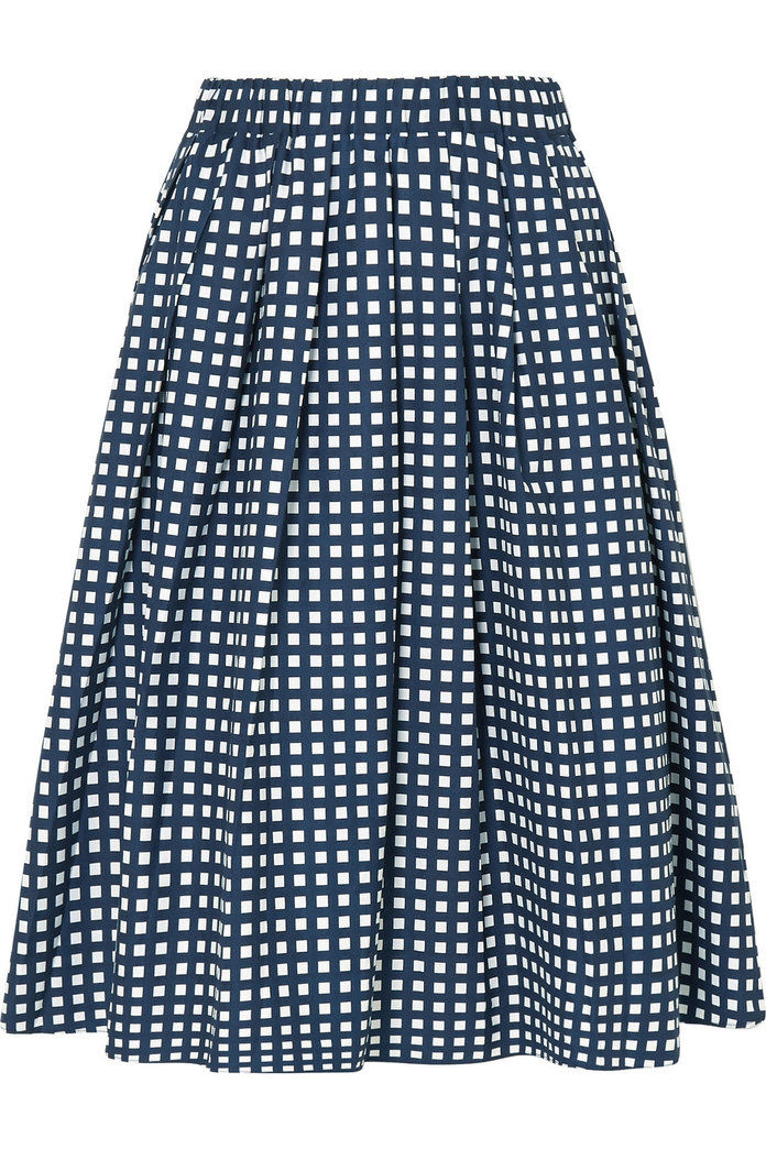 التحقق Cotton-Blend Poplin Skirt