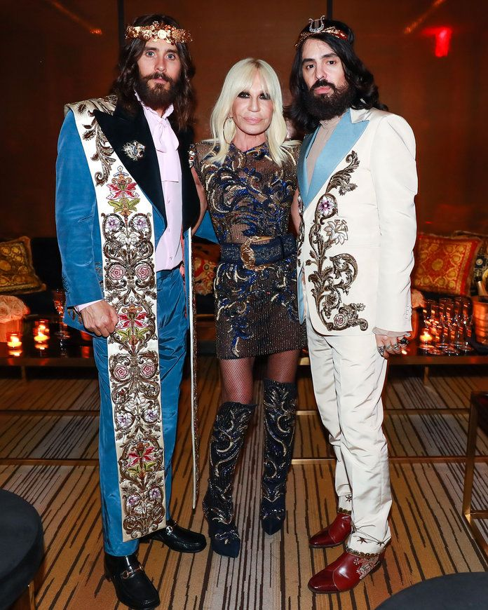 Јаред Leto, Donatella Versace, and Alessandro Michele