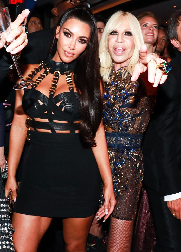 Ким Kardashian and Donatella Versace