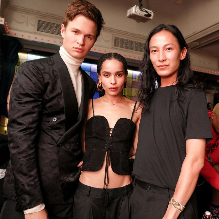 Ансел Elgort, Zoë Kravitz, and Alexander Wang
