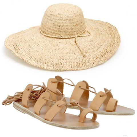 Анциент Greek Sandals and Nordstrom Hat