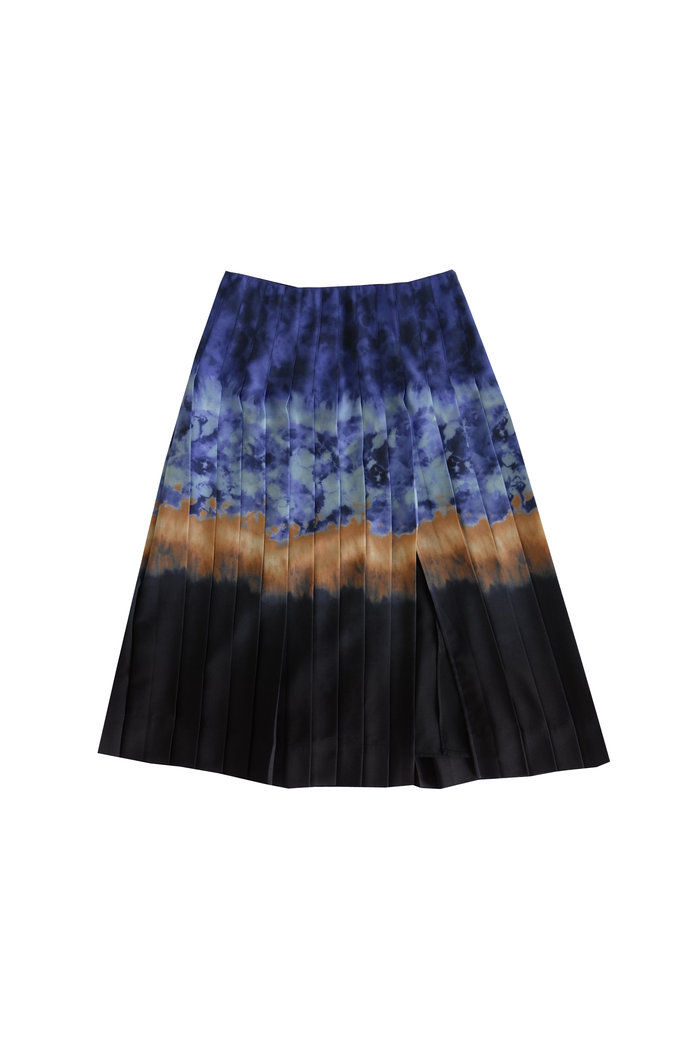 Zurina Pleated Tie-Dyed Skirt