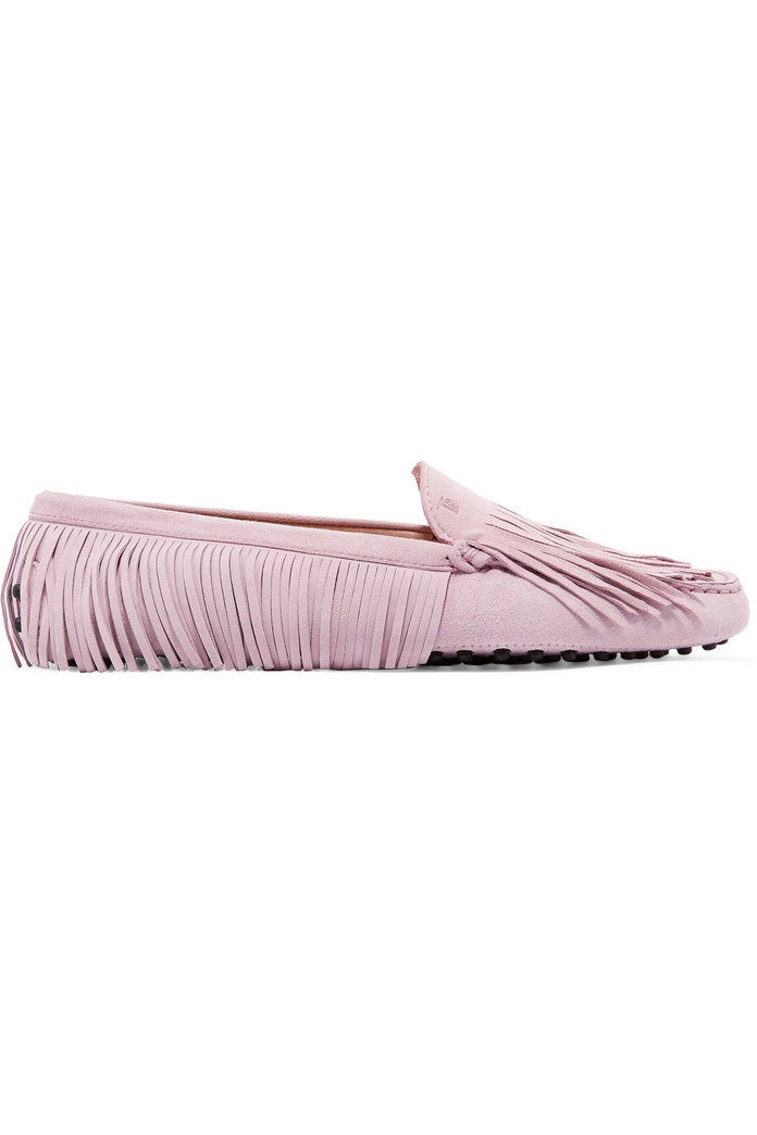 Гоммино fringed suede loafers