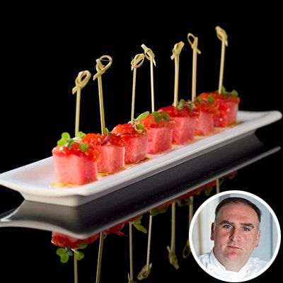 جوزيه Andres - Tomato and Watermelon Skewers - Summer Entertaining