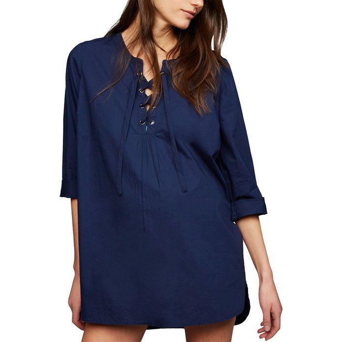 التوليد Lace-Up Swim Cover-Up