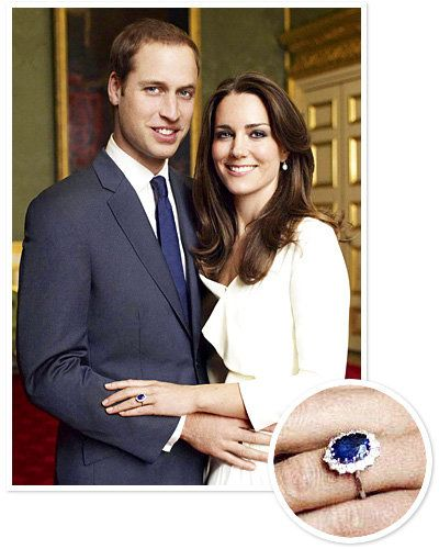 Кате Middleton - Prince William - Sapphire Engagement Rings