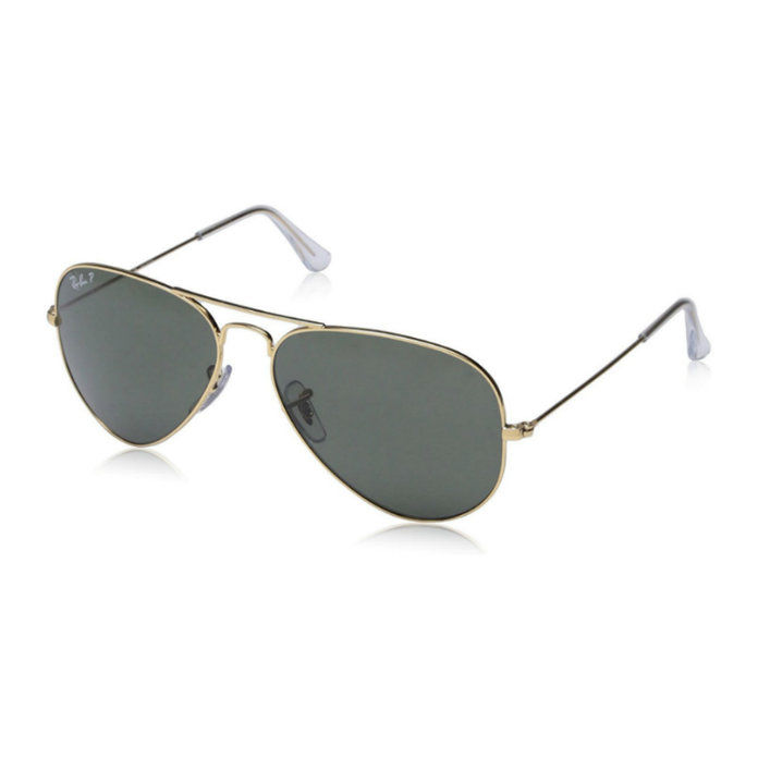 راي بان 3025 Aviator Large Metal Non-Mirrored Polarized Sunglasses