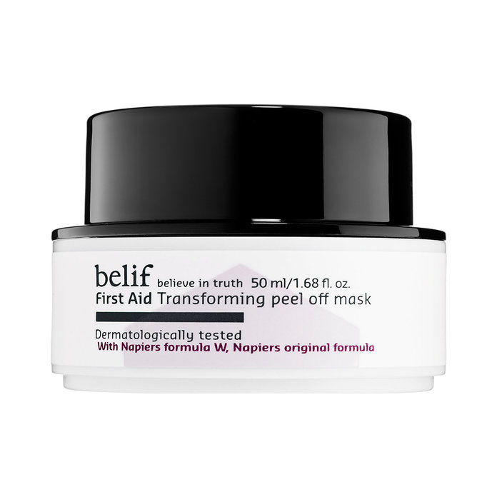 За Exfoliating: Belif First Aid Transforming Peel-Off Mask