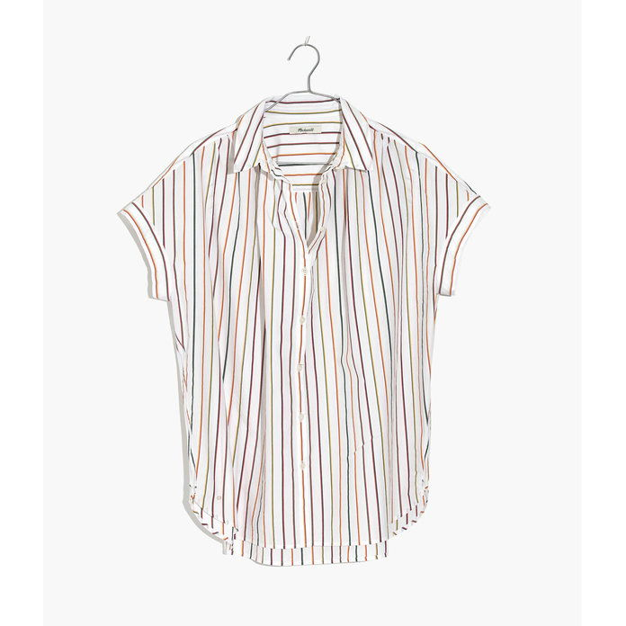 MULTI-STRIPE OVERSIZED BUTTON-DOWN
