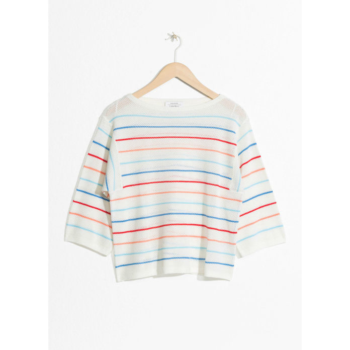 قارب NECK STRIPED OVERSIZED TOP