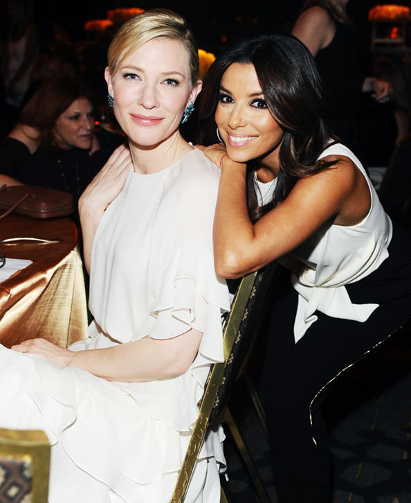 Жене in Film 2014 Crystal + Lucy Awards: Cate Blanchett and Eva Longoria