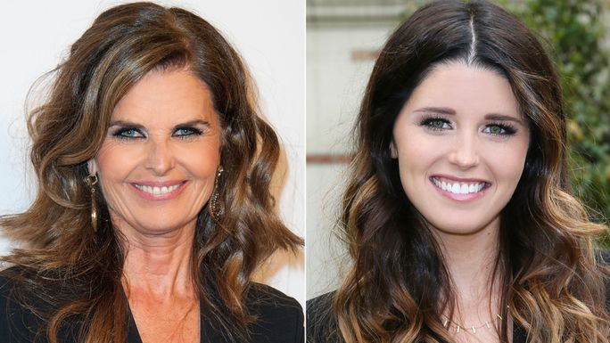 Мариа Shriver and Katherine Schwarzenegger