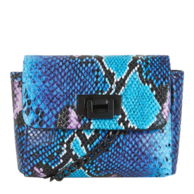 Топсхоп Faux Snake Print Mini Cross Body Bag