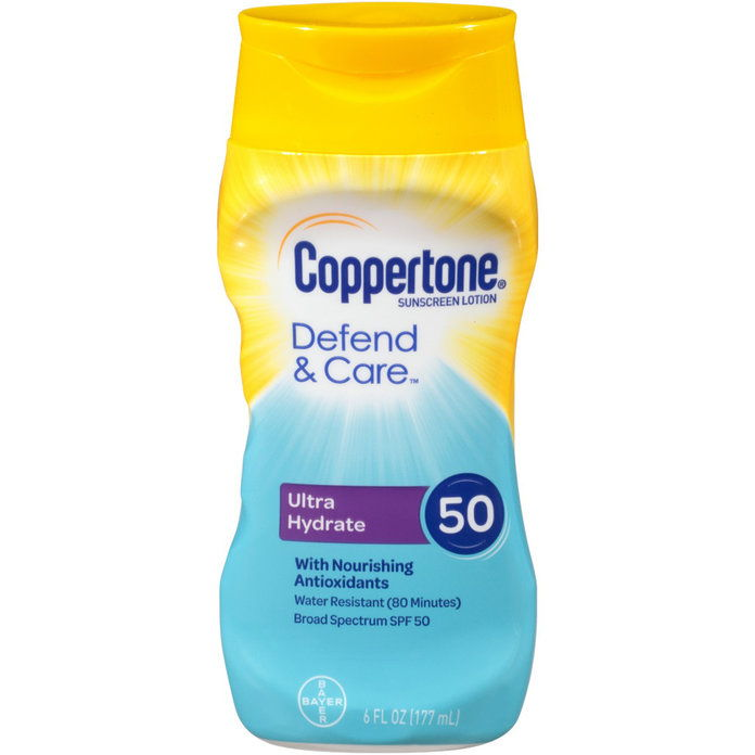 COPPERTONE Defend & Care Ultra Hydrate Sunscreen Lotion SPF 50