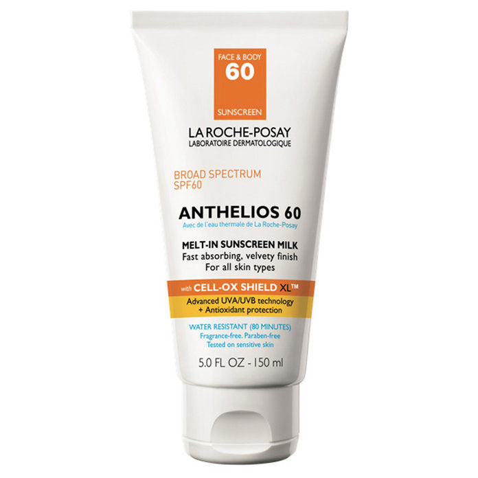 لا Roche-Posay Anthelios Face and Body Sunscreen Melt-In Milk Lotion SPF 60