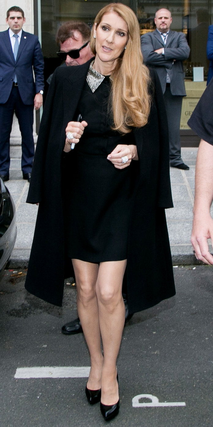 في A LITTLE BLACK SAINT LAURENT DRESS