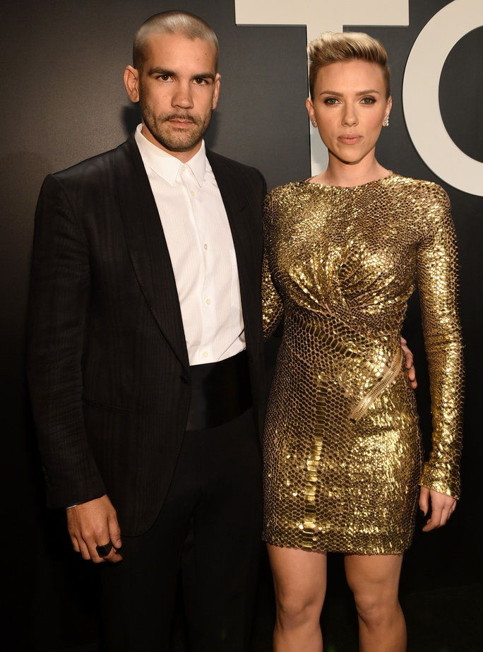 سكارليت Johansson and Romain Dauriac