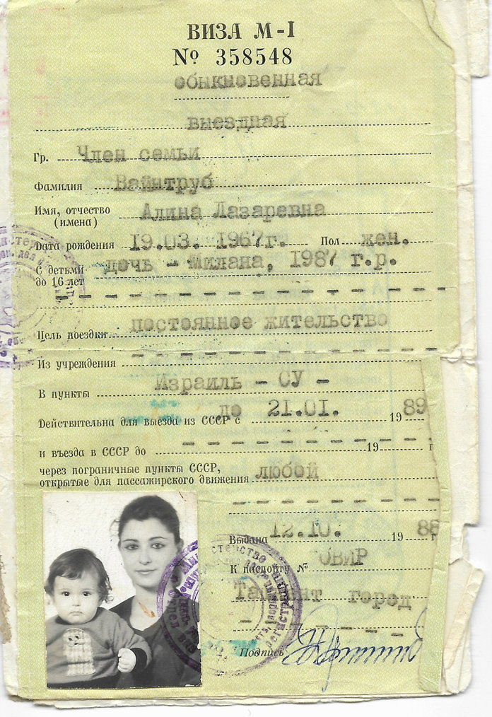 ميلانا Vayntrub's Mother's Passport Photo 1989 - Embed