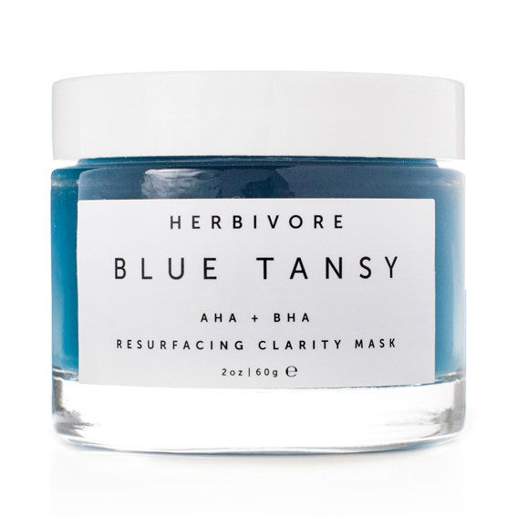 Хербиворе Blue Tansy AHA + BHA Resurfacing Clarity Mask