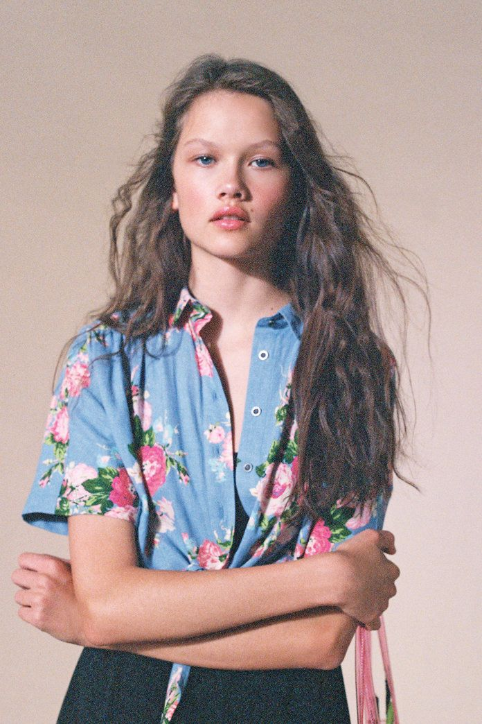 Лаура Ashley & UO Launa Button-Down Shirt