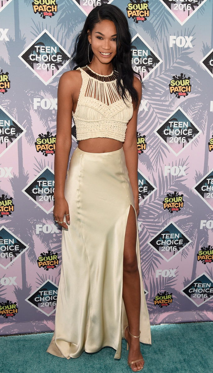Модел Chanel Iman attends Teen Choice Awards 2016 at The Forum on July 31, 2016 in Inglewood, California.