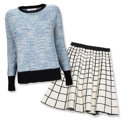 10 Crosby by Derek Lam sweater and Ohne Titel skirt