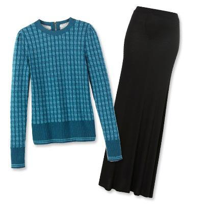 محافظ Burch sweater and Topshop skirt