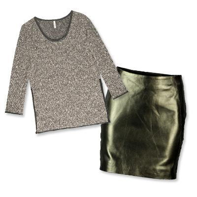 Lanston sweater and Viparo skirt