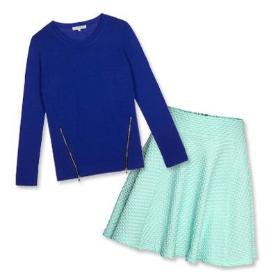 ساندرو sweater and H&M skirt