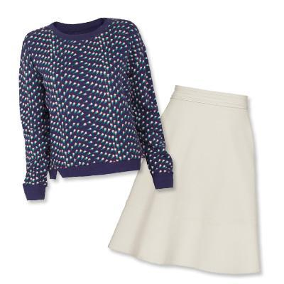 فرقة of Outsiders sweater and Reiss skirt
