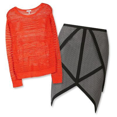 جوي sweater and Sass & Bide skirt