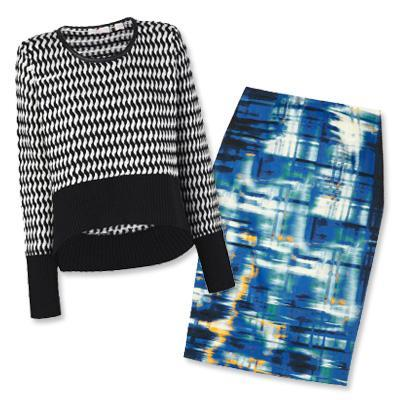 ساس & Bide sweater and Lela Rose skirt