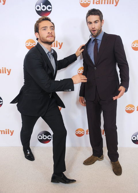 Глумци Ed Westwick and Chace Crawford arrive at the Disney ABC Television Group's 2015 TCA Summer Press Tour on August 4, 2015 in Beverly Hills, California.