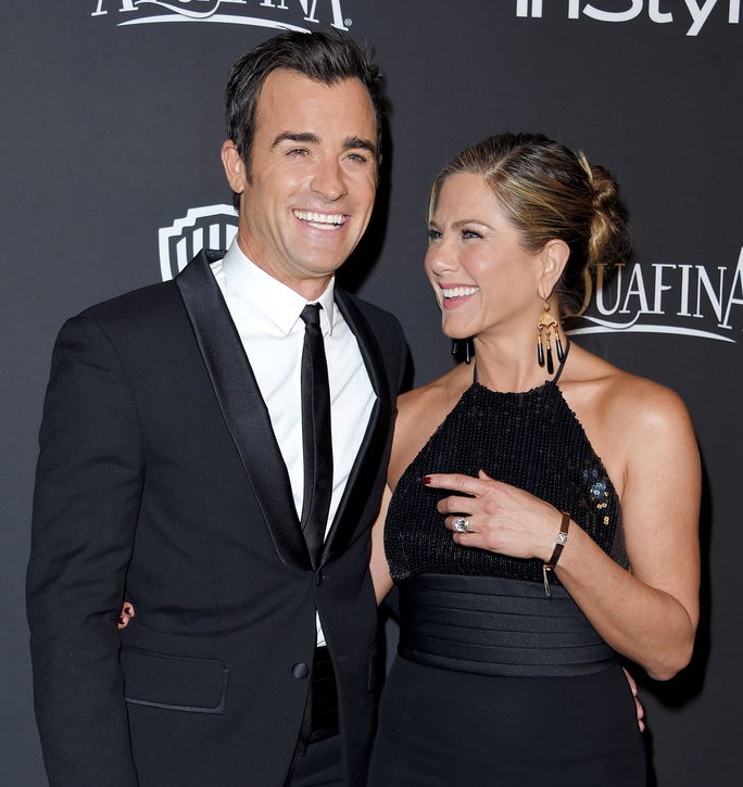 Јеннифер Aniston and Justin Theroux JANUARY 11 2015