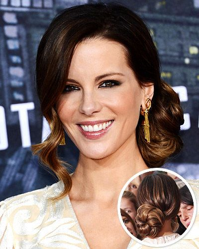 كيت Beckinsale's Retro Side Bun