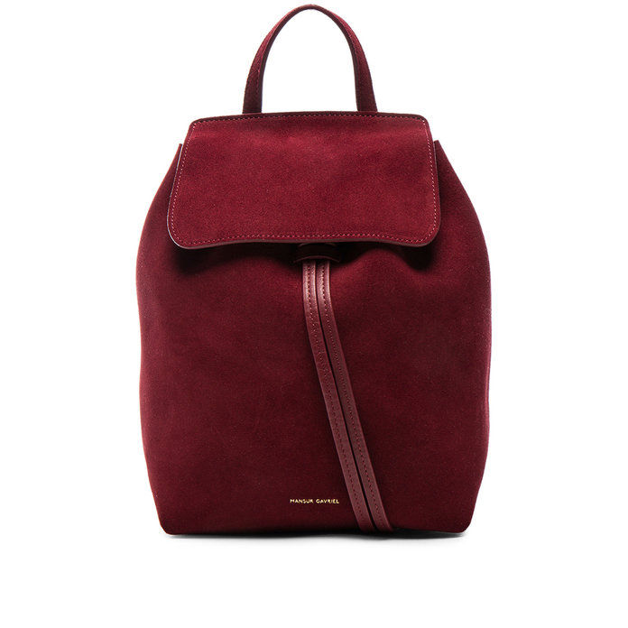MINI SUEDE BACKPACK