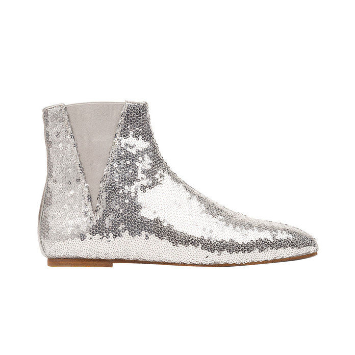 فضة Sequin Boot