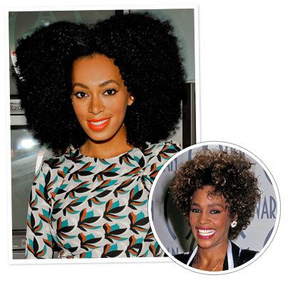ويتني Houston - Solange Knowles - Afro Hair - Black Hairstyles