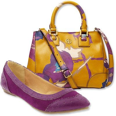 Пасти's Most Vibrant Bag and Shoe Combos - Tory Burch - Old Navy
