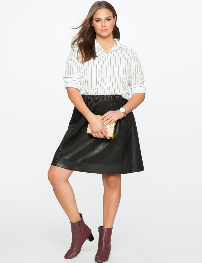 Тхе Faux Leather Skirt