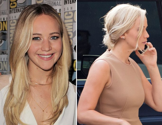 Јеннифер Lawrence new blonde hair for the movie Passengers - slide